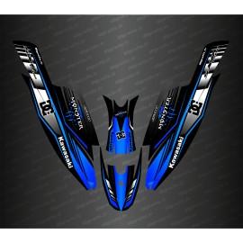 Kit de decoración 100% Personalizado DC (Azul) para Kawasaki 1500 SXR -idgrafix