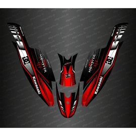 Kit decoration 100% Custom DC (Red) for Kawasaki SXR 1500-idgrafix