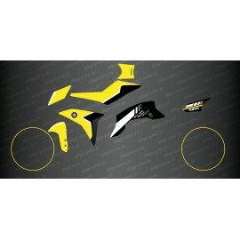 Kit decoration Yellow 100% CUSTOM - Yamaha MT-09 Tracer -Gisou-idgrafix