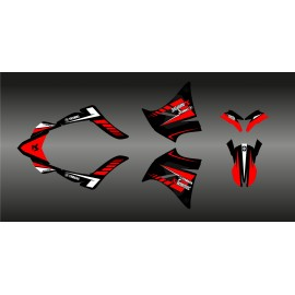 Kit déco 100% Perso Akrapovic (Rouge) pour Yamaha 660 XT (2000-2007)-idgrafix