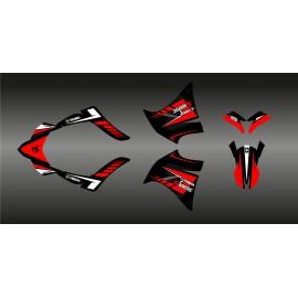 Kit deco 100% Custom Akrapovic (Red) for Yamaha 660 XT (2000-2007) - IDgrafix