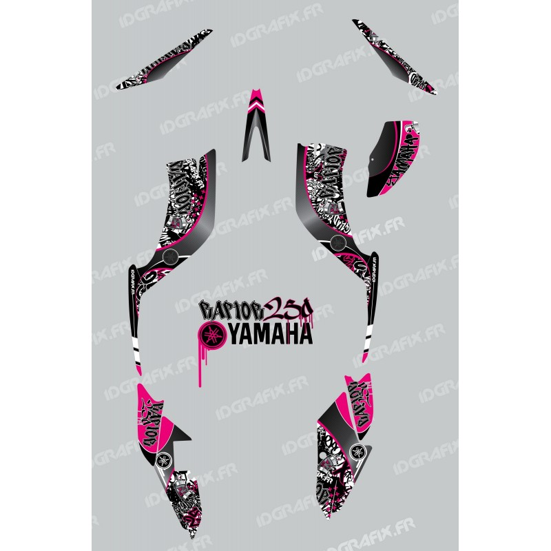 Kit décoration Tag Rose - IDgrafix - Yamaha 250 Raptor - Idgrafix