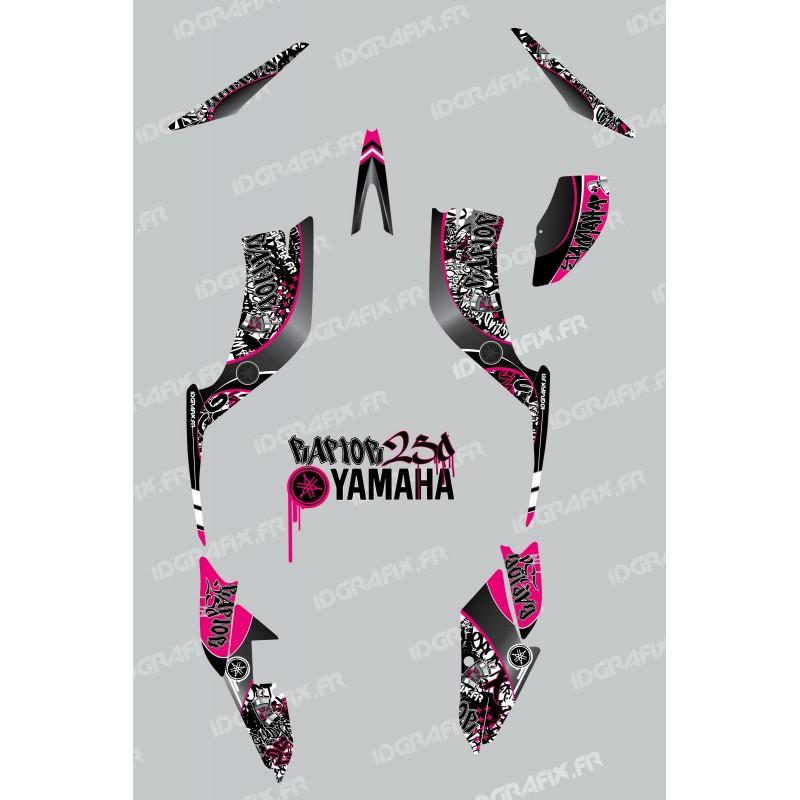 Kit de decoración de la Etiqueta de color de Rosa - IDgrafix - Yamaha Raptor 250 -idgrafix