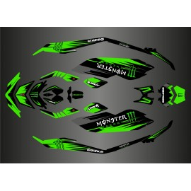 Kit de decoración, Llena de Monster Edition (Verde) para Seadoo Chispa -idgrafix