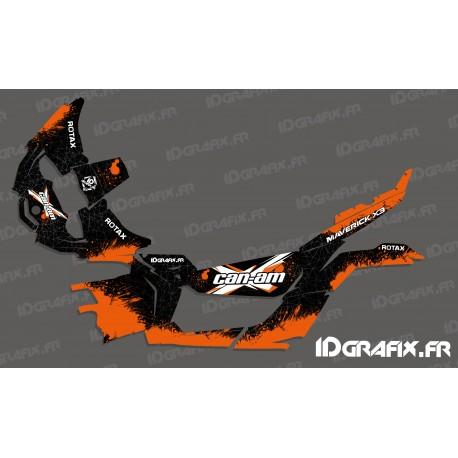 Kit décoration Splash Series (Orange) - Idgrafix - Can Am Maverick X3-idgrafix