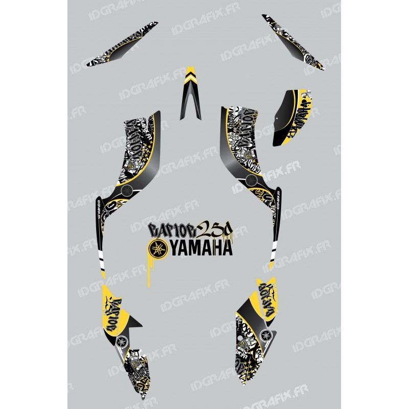 Kit decoration Tag Yellow - IDgrafix - Yamaha 250 Raptor-idgrafix