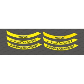 Kit Stickers (Jaune Fluo) Jante Roval Traverse SL