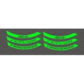 Kit Stickers (Fluorescent Green) Rim Roval Traverse SL - IDgrafix