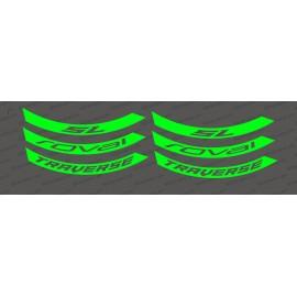 Kit Stickers (Fluorescent Green) Rim Roval Traverse SL