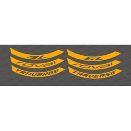 Kit Stickers (Neon Orange) Rim Roval Traverse SL