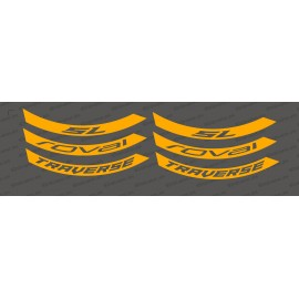 Kit Stickers (Orange Fluo) Jante Roval Traverse SL-idgrafix