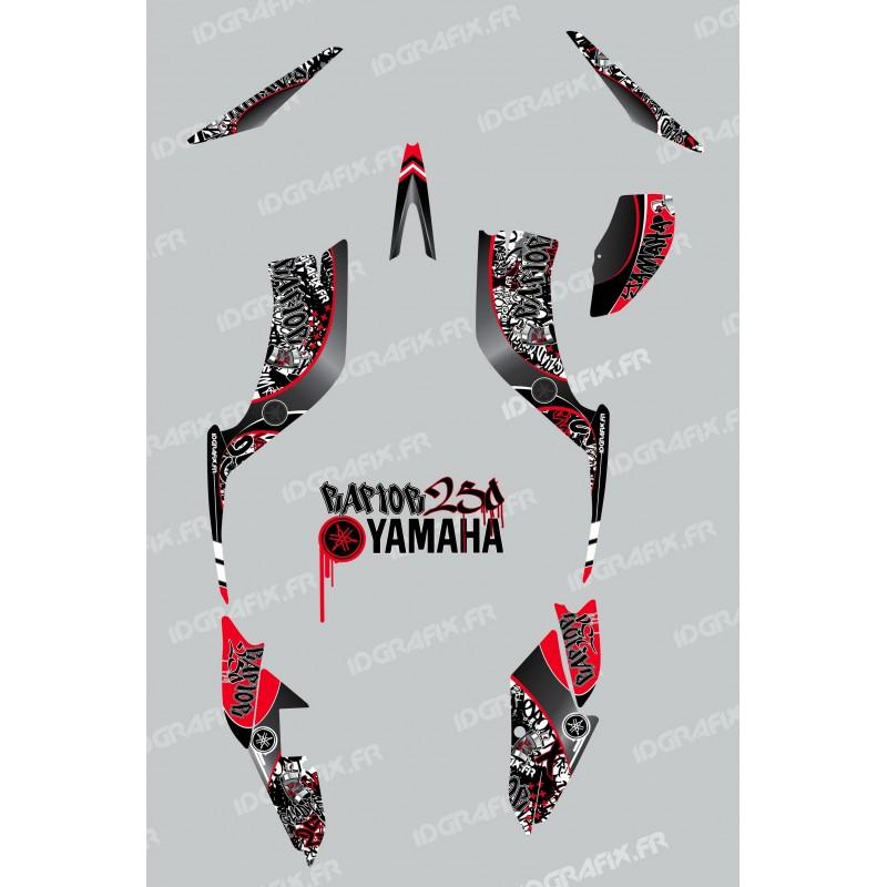 Kit de decoración de Etiqueta Roja - IDgrafix - Yamaha Raptor 250 -idgrafix