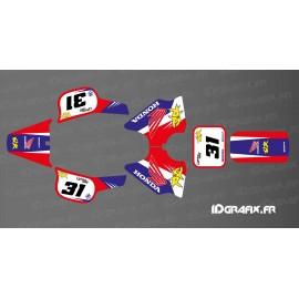 Kit decoration Vintage Full (Red/Blue) - IDgrafix - Honda QR 50 - IDgrafix