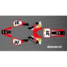 Kit dekor Vintage Full (Rot/Schwarz) - IDgrafix - Honda QR 50 -idgrafix