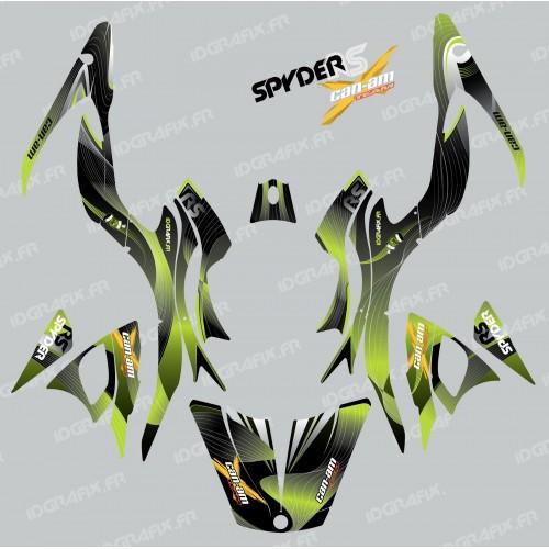 photo du kit décoration - Kit décoration Liner Vert - IDgrafix - Can Am Spyder RS