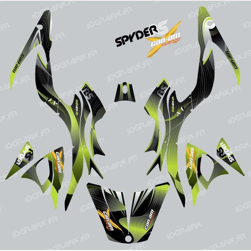 Kit de decoración de Forro Verde - IDgrafix - Can Am Spyder RS -idgrafix