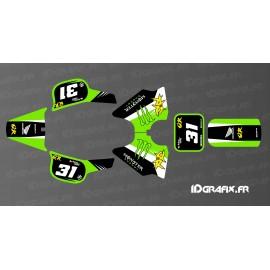 Kit decorazione 100% Personalizzato Mostro Edizione Completa (Verde) - IDgrafix - Honda QR 50 -idgrafix
