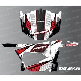 Kit de decoració Stipple Edició (Blanc/Vermell) - IDgrafix - Polaris RZR 900 -idgrafix