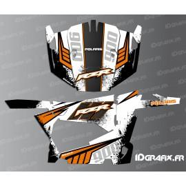 Kit decorazione Punteggiatura Edizione (Bianco/Arancio) - IDgrafix - Polaris RZR 900 -idgrafix
