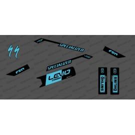 Kit déco Edició de la Cursa Mitjana (de color Blau) - Especialitzada Levo de Carboni -idgrafix
