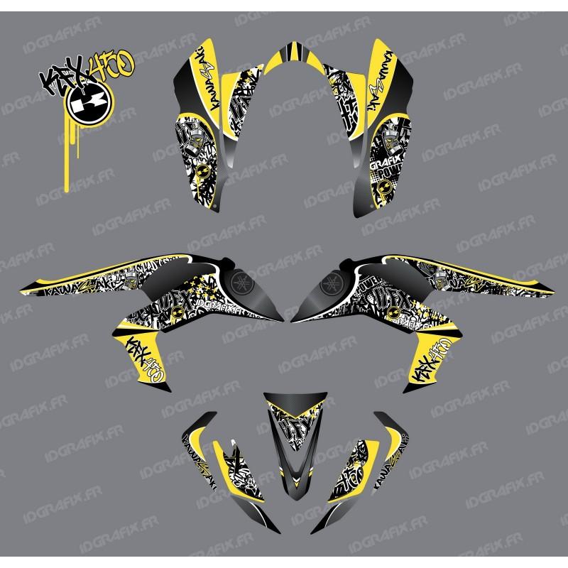 Kit décoration Tag Jaune - IDgrafix - Kawasaki KFX 450R