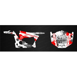 Kit de decoración de MonsterRace Edición (Rojo/Blanco) - IDgrafix - Polaris RZR 900 -idgrafix