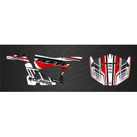 Kit de decoración de MonsterRace Edición (Rojo/Blanco) - IDgrafix - Polaris RZR 900