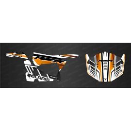 Kit de decoración de la Hoja de Edición (Naranja/Blanco) - IDgrafix - Polaris RZR 900 -idgrafix
