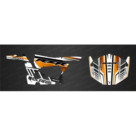 Kit décoration Blade Edition (Orange/Blanc) - IDgrafix - Polaris RZR 900-idgrafix