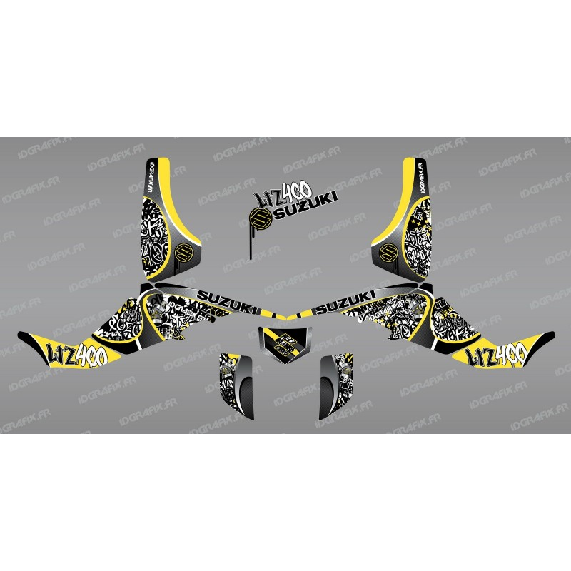 Kit decoration Tag Yellow - IDgrafix - Suzuki LTZ 400-idgrafix