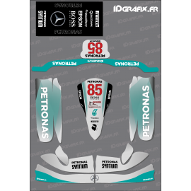 Kit déco F1 Mercedes Réplica pour Karting Tony Kart M4-idgrafix