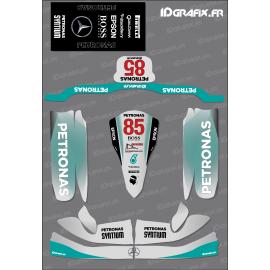 Kit deco F1 Mercedes Réplica para el Karting de Tony Kart M4 -idgrafix