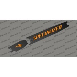 Adesivo di protezione della Batteria - Carbon edition (Arancione) - Specialized Turbo Levo/Kenevo -idgrafix