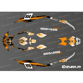 Kit décoration Medium Spark Splash Orange pour Seadoo Spark