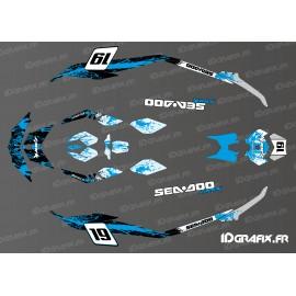 Kit decoration Medium Spark Blue Splash for Seadoo Spark