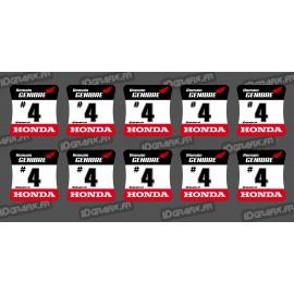 Lot de 10 Stickers de moyeux de roues HONDA-idgrafix