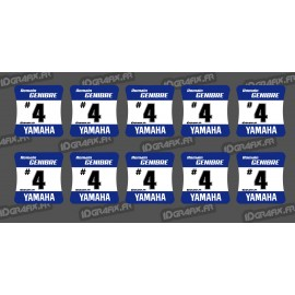 Lot of 10 Stickers of wheel hubs Yamaha-idgrafix