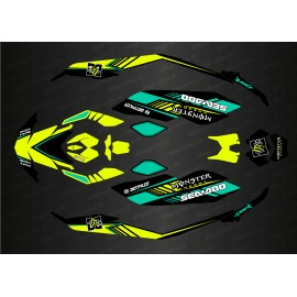 Kit decoration, Full DC Edition (Blue/Yellow) for Seadoo Spark-idgrafix