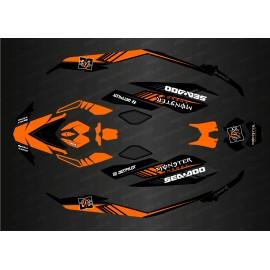 Kit de decoración Completa de DC Edition (Naranja) para Seadoo Chispa -idgrafix