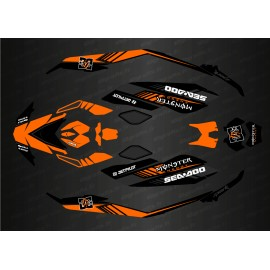 Kit decoration, Full DC Edition (Orange) for Seadoo Spark - IDgrafix