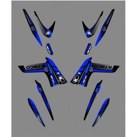 Kit Deco Fox Edition (Azul) - Kymco 400/450 Maxxer -idgrafix