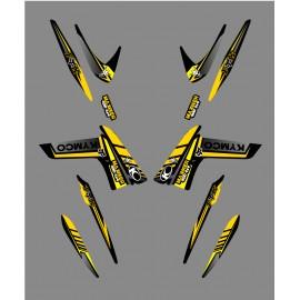 Kit Deco Fox Edition (Giallo) - Kymco 400/450 Maxxer -idgrafix