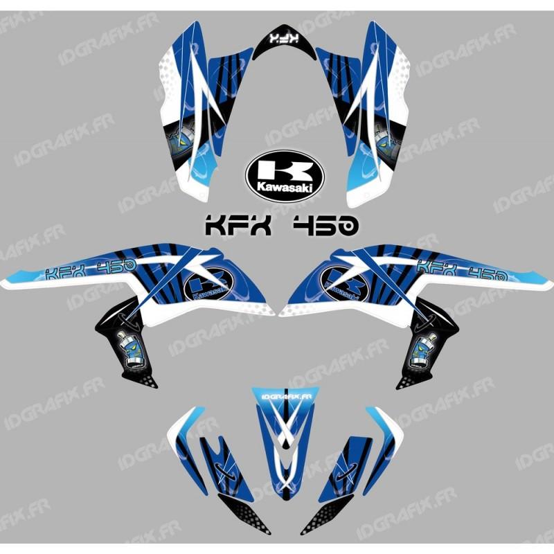 Kit décoration Space Bleu - IDgrafix - Kawasaki KFX 450R - Idgrafix
