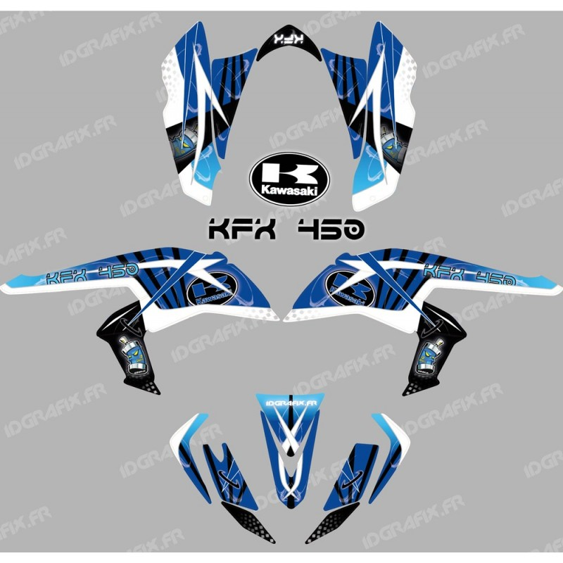 Kit decoration Space Blue - IDgrafix - Kawasaki KFX 450R-idgrafix