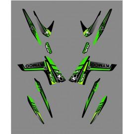 Kit-Deco-Fox Edition (Grün) - Kymco Maxxer 400/450