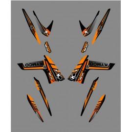 Kit Deco Fox Edition (Arancione) - Kymco 400/450 Maxxer -idgrafix