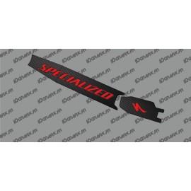 Adesivo di protezione della Batteria - Carbon edition (Rosso) - Specialized Turbo Levo/Kenevo -idgrafix