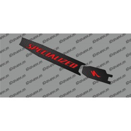Sticker protection Batterie - Carbon edition (Rouge) - Specialized Turbo Levo/Kenevo-idgrafix