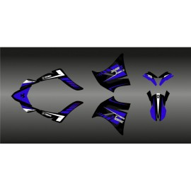Kit deco 100% Custom Akrapovic (blue) for Yamaha 660 XT (2000-2007) - IDgrafix