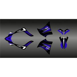 Kit deco 100% Personalitzat Akrapovic (blau) per a Yamaha XT 660 (2000-2007) -idgrafix